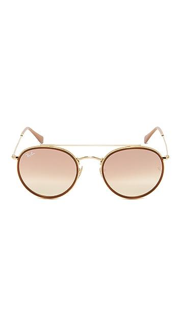Ray-Ban Round Aviator Flash Sunglasses