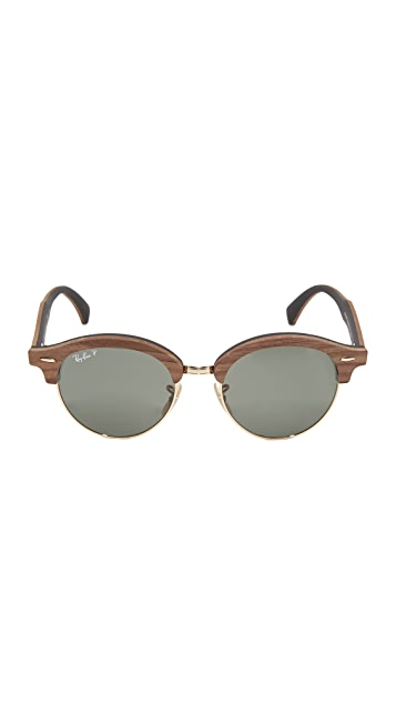 Ray-Ban Polar Round Wood Sunglasses