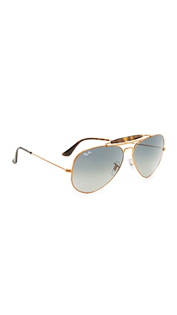 Exceptionnel Ray Ban Top Bar Aviator Sunglasses ...