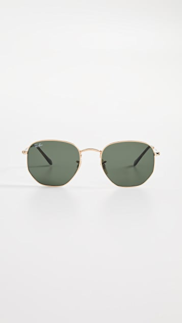 0cefc1c1c6351 Ray-Ban RB3548N Hexagonal Sunglasses ...