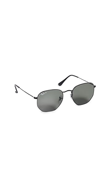 Ray-Ban RB3548N Polarized Hexagonal Sunglasses
