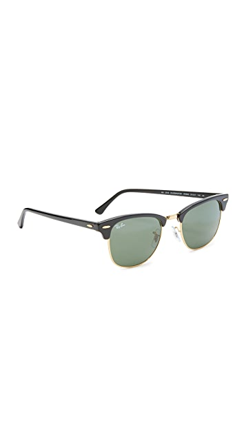 47cdb912a65 Ray-Ban RB3016 Classic Clubmaster Rimless Sunglasses