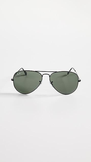 Ray-Ban RB3025 Oversized Classic Aviator Polarized Sunglasses ... d8176bfc15e0