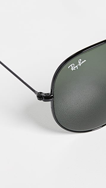 5d7280ef410d Ray-Ban RB3025 Oversized Classic Aviator Polarized Sunglasses | SHOPBOP