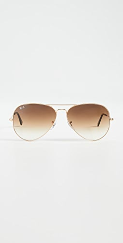 Ray-Ban - RB3025 Oversized Classic Aviator Gradient Sunglasses