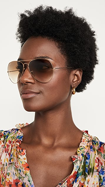 Ray-Ban RB3025 Oversized Classic Aviator Gradient Sunglasses