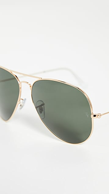 Ray-Ban RB3025 Oversized Classic Aviator Sunglasses