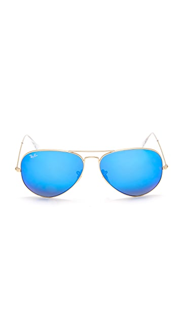 Ray-Ban Oversized Mirrored Aviator Sunglasses