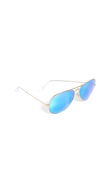 Ray-Ban RB3025 Oversized Classic Aviator Mirrored Sunglasses