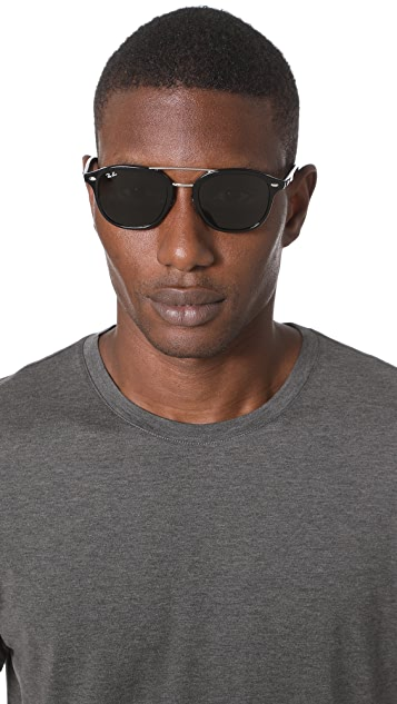 Ray-Ban Double Bridge Square Sunglasses