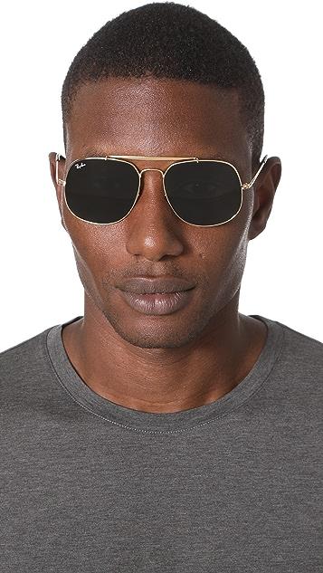 57c2995efb103 ... Ray-Ban The General Square Aviator Sunglasses ...