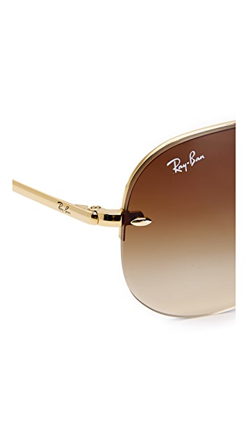 Ray-Ban RB3449 Classic Aviator Rimless Gradient Sunglasses