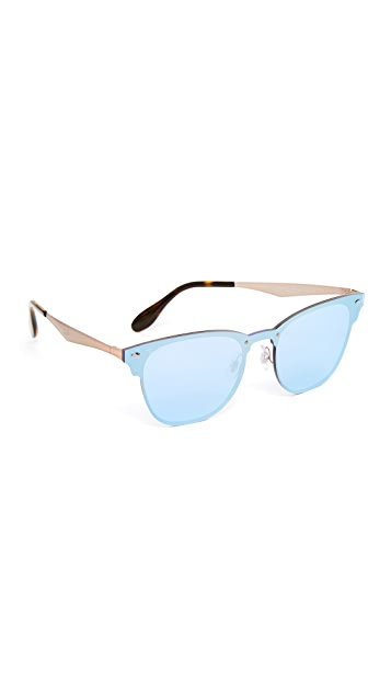 Ray-Ban Wayfarer Flat Mirrored Sunglasses
