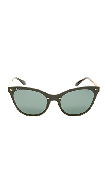Ray-Ban Cat Eye Flat Sunglasses