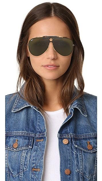 Ray-Ban Pilot Aviator Flat Sunglasses