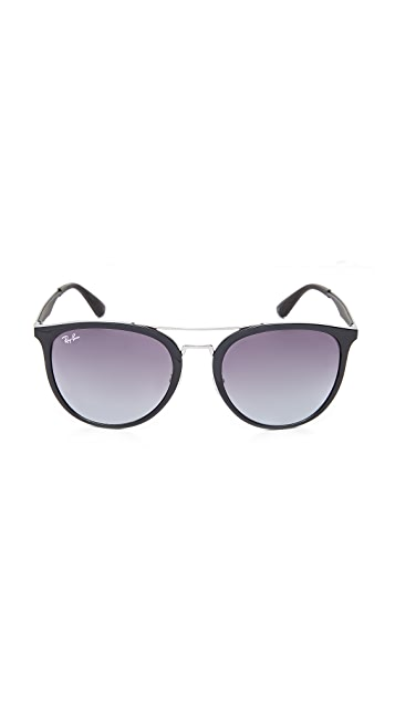 Ray-Ban Round Brow Bar Aviator Sunglasses