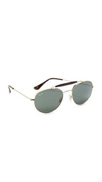 8bec0e53fb4 Ray-Ban Round Brow Bar Sunglasses