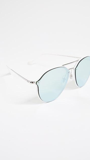 Ray-Ban Blaze Flat Lens Aviator Sunglasses
