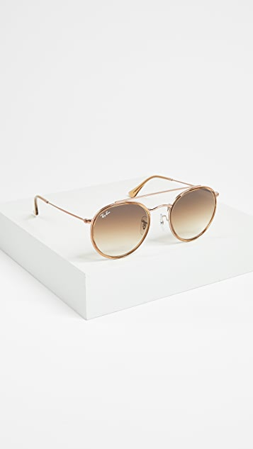 Ray-Ban Phantos Round Browbar Sunglasses