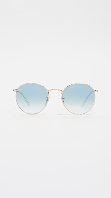 Ray-Ban RB3447N Silver Flash Round Sunglasses