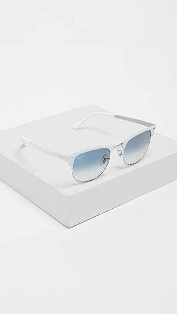 Ray-Ban RB3716 Clubmaster Rimless Gradient Sunglasses