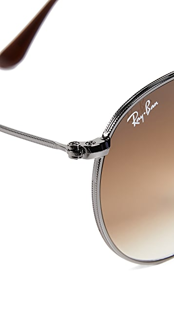 Ray-Ban Round Flat Lens Sunglasses