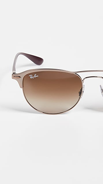 Ray-Ban RB3596 Круглые солнцезащитные очки-авиаторы Lightforce