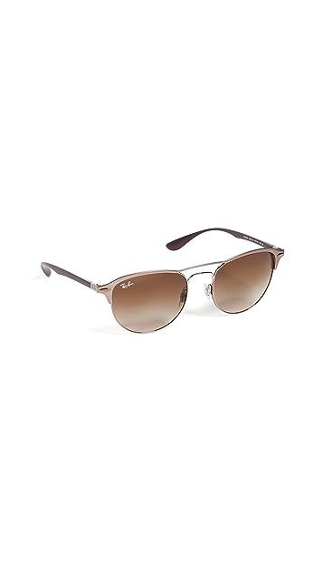 Ray-Ban RB3596 Lightforce Round Aviator Sunglasses