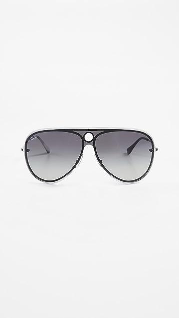 70d9330464177b Ray-Ban Framed Shield Sunglasses