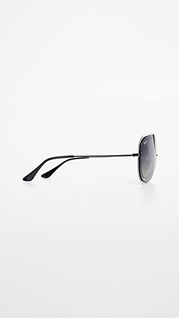 Ray-Ban Framed Shield Sunglasses