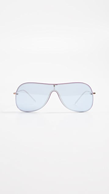 9cc0898159f10 Ray-Ban RB4311N Shield Mirrored Sunglasses