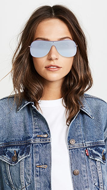 Ray-Ban RB4311N Shield Mirrored Sunglasses