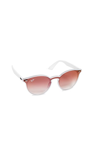 Ray-Ban RB4380N Blaze Round Clear Gradient Sunglasses