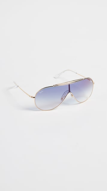 Ray-Ban RB3597 Oversized Clear Shield Sunglasses