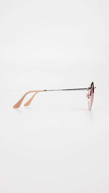 Ray-Ban RB3447 Round Metal Evolve Sunglasses