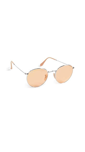 Ray-Ban RB3447 Round Metal Evolve Sunglasses