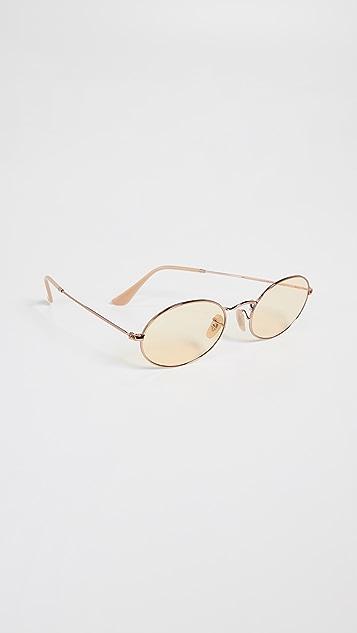 Ray-Ban RB3547N Тонкие овальные солнцезащитные очки Icons Evolve