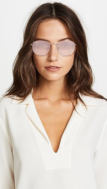 Ray Ban Rb3548n Hexagonal Evolve Round Sunglasses Shopbop