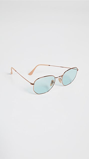 Ray-Ban RB3548N Hexagonal Evolve Round Sunglasses