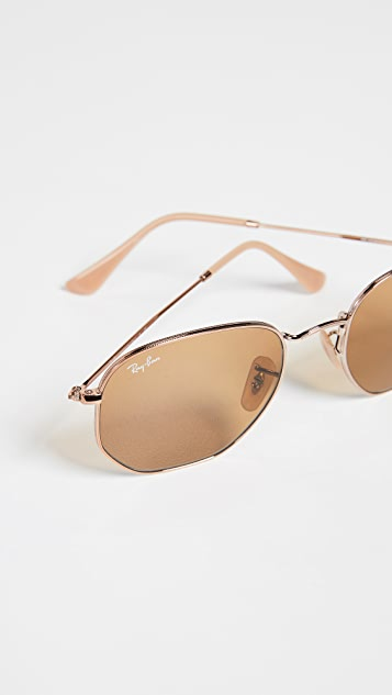 Ray-Ban RB3548N Hexagonal Evolve Round Sunglasses