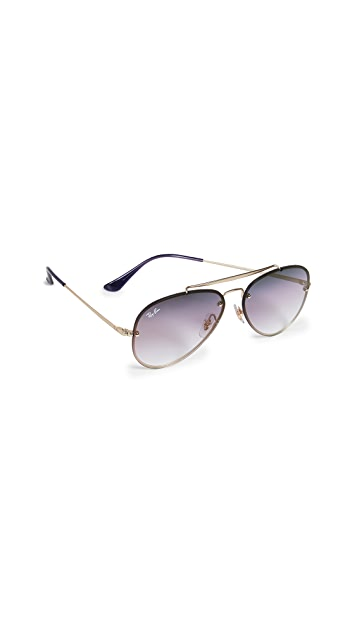 Ray-Ban RB3584N Blaze Aviator Gradient Sunglasses
