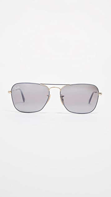 Ray-Ban RB3136 Caravan Square Aviator Sunglasses