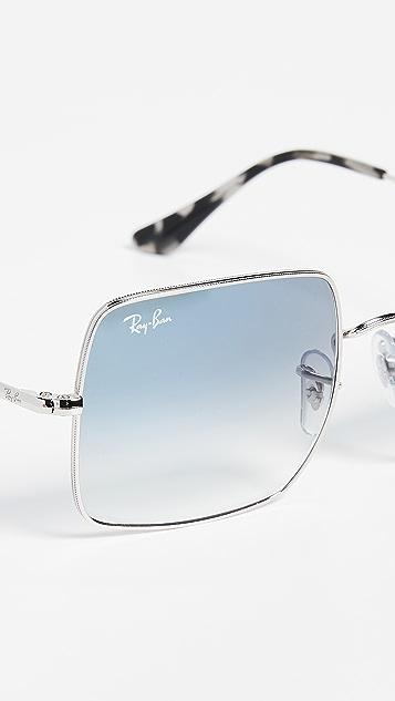 Ray-Ban RB1971 Крупные квадратные зеркальные солнцезащитные очки Icons