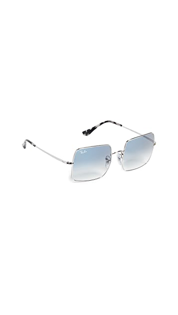 Ray-Ban RB1971 Icons Oversized Square Mirrored Sunglasses