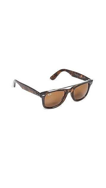 Ray-Ban RB4540 Солнцезащитные очки Wayfarer с двойной перемычкой