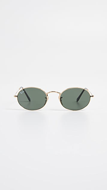 Small Oval Sunglasses by Ray Ban