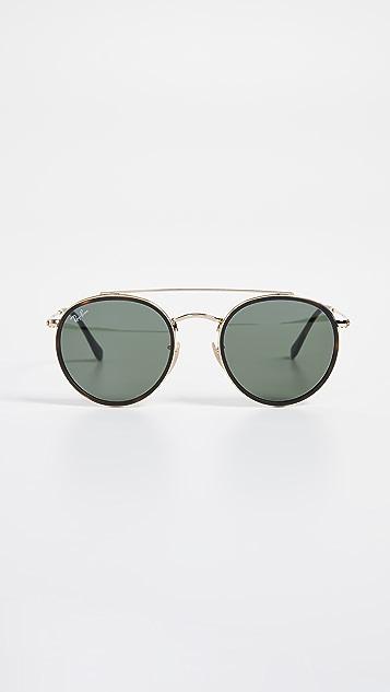 Ray-Ban Классические округлые солнцезащитные очки-авиаторы