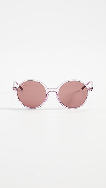 Ray-Ban Круглые солнцезащитные очки Youngster