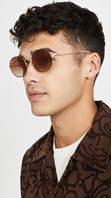 Ray-Ban 0RB3594 Oval Sunglasses