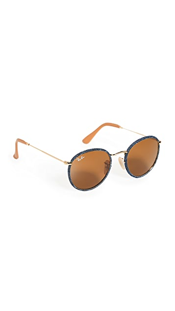 Ray-Ban Round Metal Frame Sunglasses